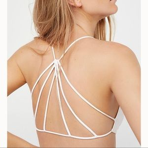 Free People prism strappy back bralette white xs/s